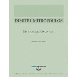 Mitropoulos: Un morceau de concert
