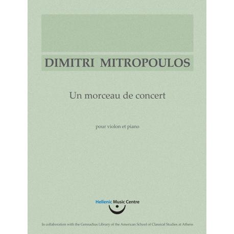 Μητρόπουλος: Un morceau de concert